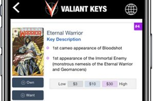 Valiant Announces Official Partnership with Key Collector Comics App