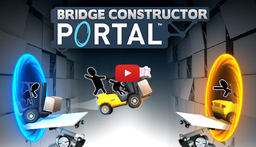 GLaDOS returns in Bridge Constructor Portal