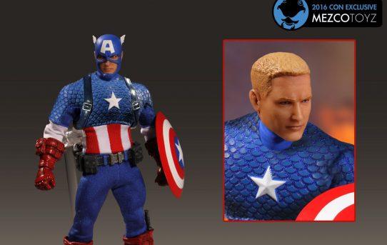 MEZCO TOYZ ONE:12 COLLECTIVE Marvel Captain America: Deluxe Classic Version
