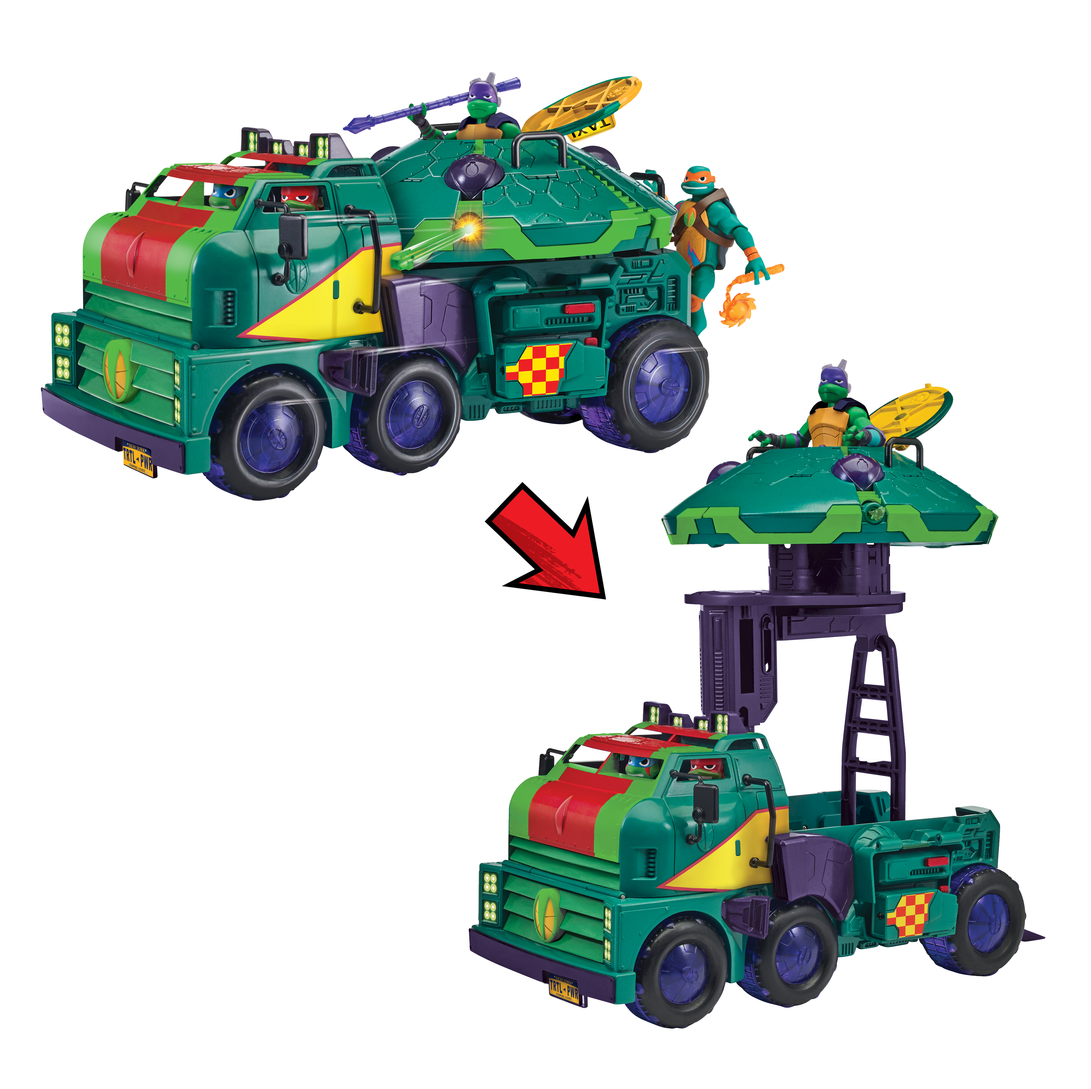 The Rise Of Teenage Mutant Ninja Turtles Toy Line From Playmates Toys Features Following