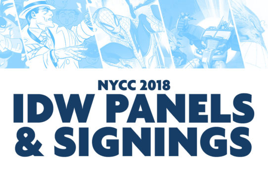 IDW Announces Signing Schedule and Panels for New York Comic Con 2018