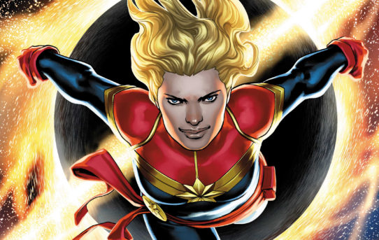 Captain Marvel Blasts onto Comic Covers This February!
