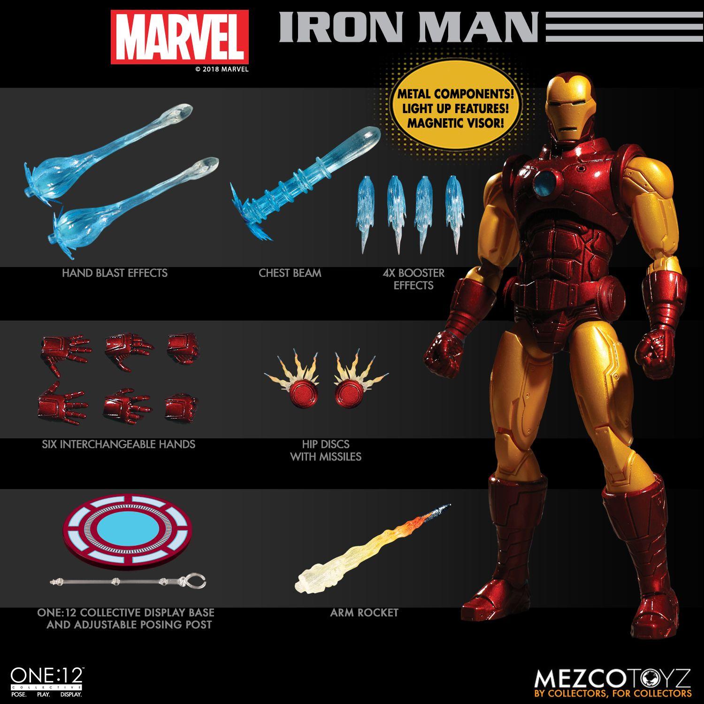 Mezco Toyz Iron Man Armor Model 42 Marvel Comics One:12 Collectif 2019