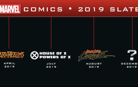 MARVEL COMICS UNVEILS PUBLISHING SLATE FOR 2019