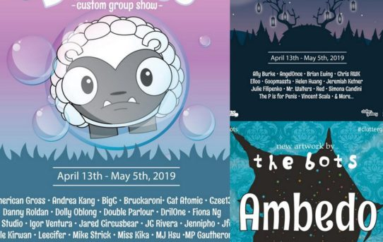 The Bubbles Custom Show, Darkest Hour, & Ambedo; The Bots take over Clutter Gallery this weekend!