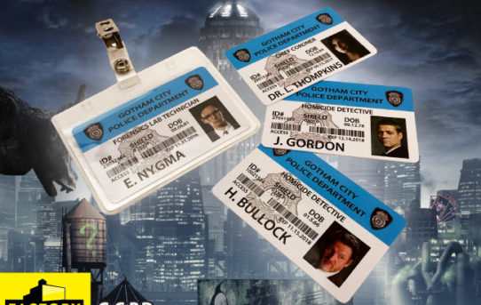 Factory Ent. Reveals GOTHAM POLICE IDs for SDCC 2019