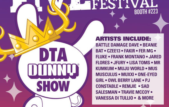 Clutter & Kidrobot announce The FIVE POINTS FEST DTA Dunny Show 2019!
