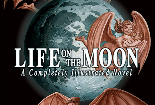 LIFE ON THE MOON: The Famous Fake News Story, Detailed as a Graphic Novel by Iconic Illustrator Robert Grossman