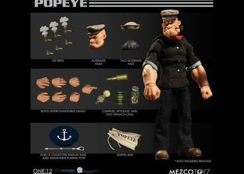 Mezco Toys One: 12 Collective: Popeye Both Versions!