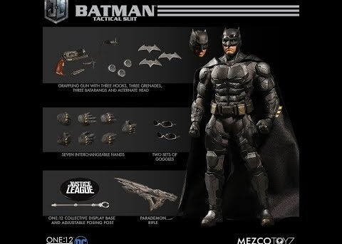 Mezco Toyz ONE:12 COLLECTIVE Tactical Suit Batman