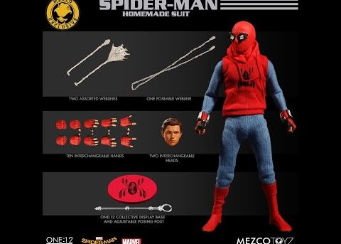 Mezco Toyz ONE:12 COLLECTIVE Spider-Man: Homecoming - Homemade Suit Edition
