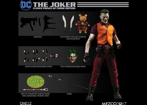 Mezco Toyz ONE:12 COLLECTIVE The Joker: Clown Prince of Crime Edition